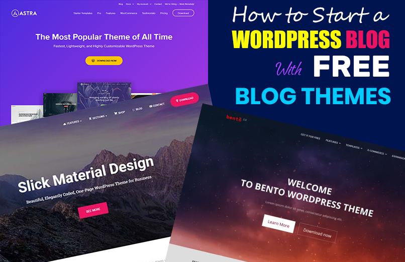 free WordPress themes for blogs